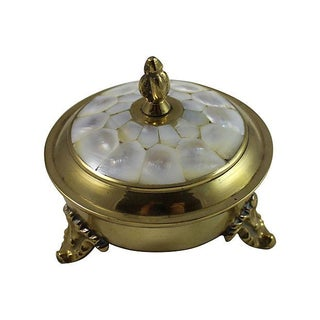 Victorian Mother of Pearl Lid Box