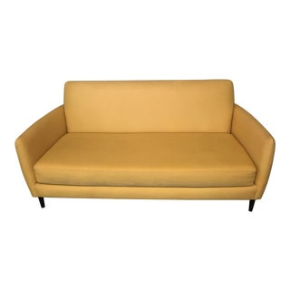 CB2 Yellow Loveseat Sofa