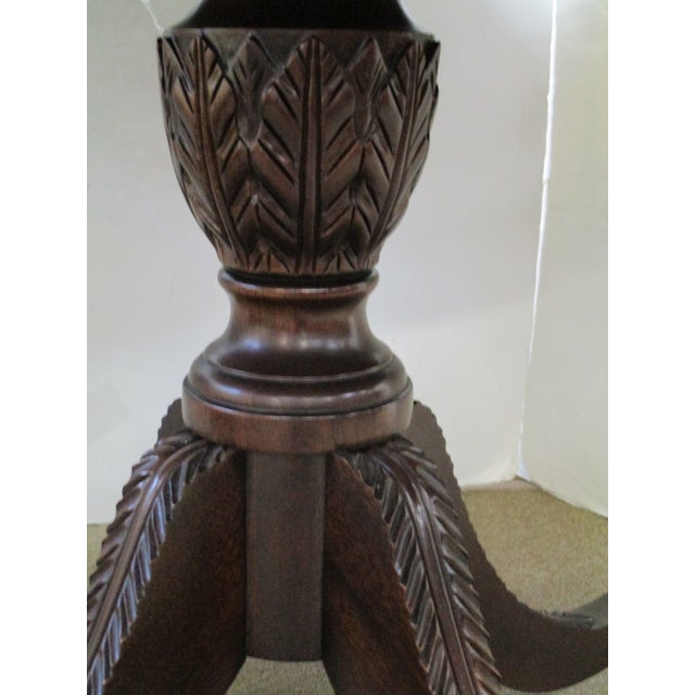 Image of Round Mahogany Inlaid Dining Table