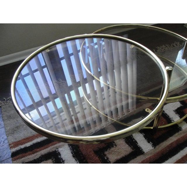 Milo Baughman Smoked Glass Swivel Table - Image 5 of 8