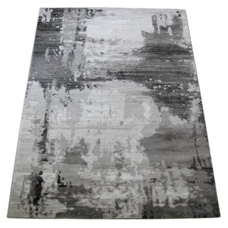 Contemporary Gray Abstract Rug - 10' X 13'