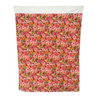 Vintage 1960s Pink Floral Curtain