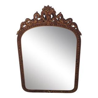 Garland & Ribbon Gilt Wood Mirror