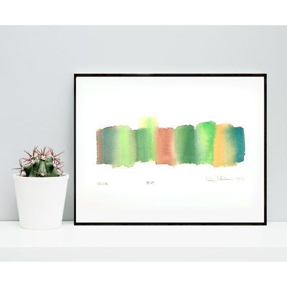 'Delta' Original Abstract Watercolor Painting - Image 2 of 4
