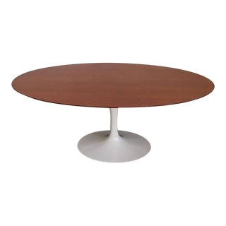 Vintage Knoll Tulip Dining Table with Teak Top