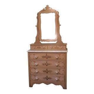1867 Painted Pine Dresser & Mirror