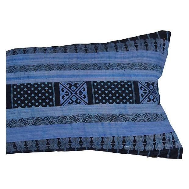 Silk Hill Tribe Indigo Textile Pillow - Image 4 of 4