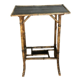 Vintage Chinoiserie Bamboo Accent Table