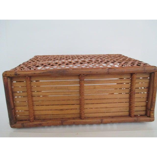 Vintage Handmade Wicker Basket - Image 5 of 6