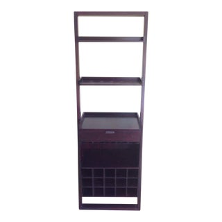 Contemporary Laminate Mahogany Bookcase