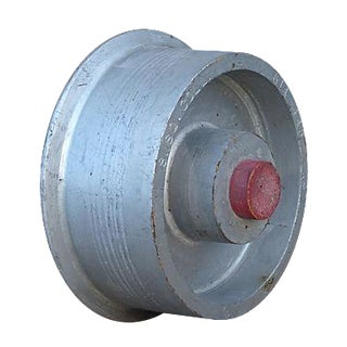 Painted Wood Wheel Foundry Mold