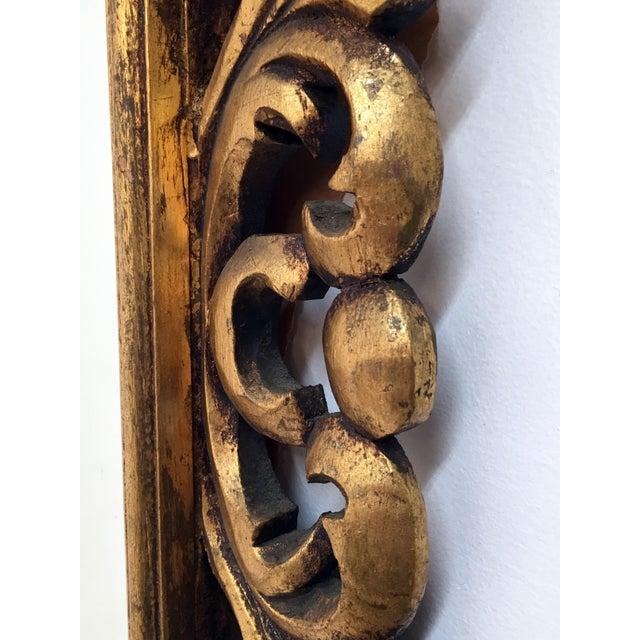 Italian Carved Wood & Gilt Mirror - Image 7 of 7