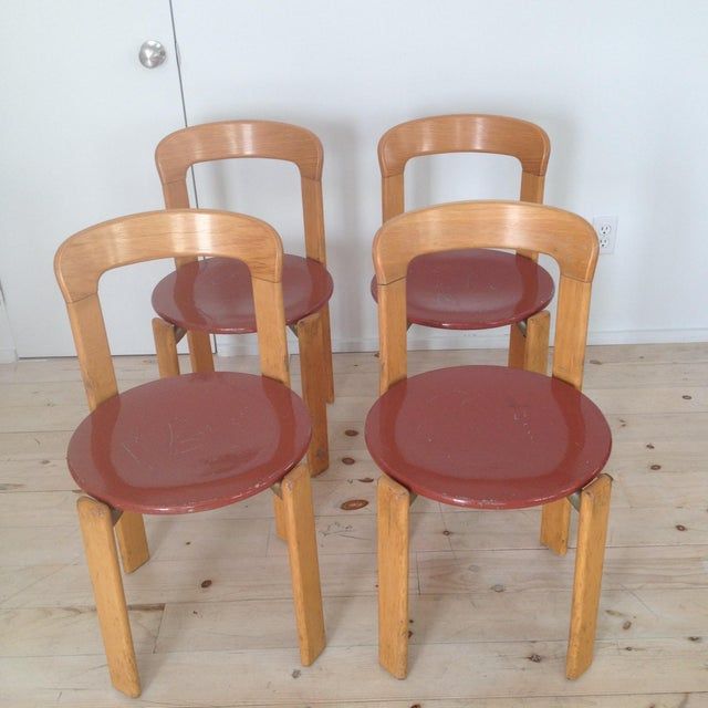 Swiss Co. Dietiker Bruno Rey Chairs - Set of 4 - Image 2 of 7