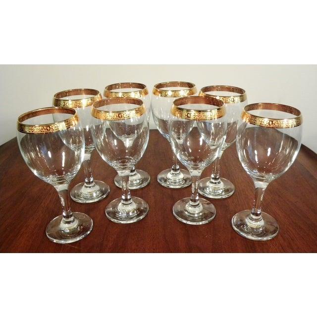 Vintage Hand Blown Glasses - Set of 8 - Image 5 of 7
