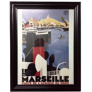 Marseille Porte de l'Afrique du Nord Framed Poster