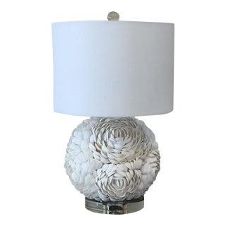 Floral Mosaic Seashell Spherical Table Lamp