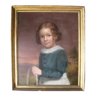 Portrait of a Boy Holding a Hoop