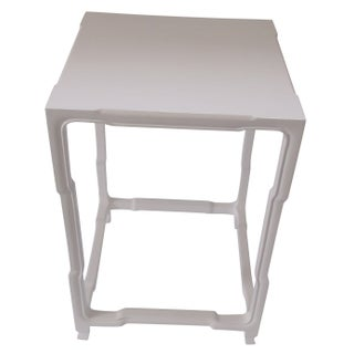 White High Gloss Side Table