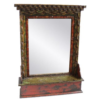 Tibetan Painted Mirror Frame