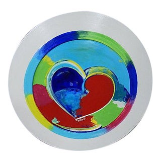 The Heart Plate Large Painting by Dana Basel