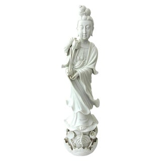 White Blanc De Chine Porcelain Figure of Guanyin