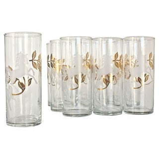 "Mid-Century ""Cavalcade"" Glassware - Set of 10"