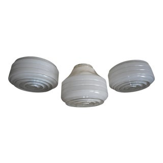 Art Deco Flush Mount Light Shades - Set 3