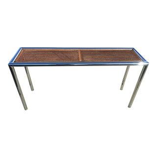 Chrome Rattan Crystal Sofa / Console Table