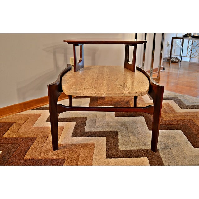 Image of Bertha Schaefer Mid-Century Floating Marble Table