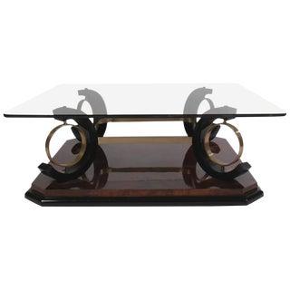 Italian Mid-Century Modern Coffee Table Having Glass Top