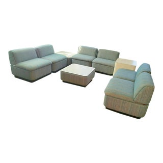 Thonet Sectional With Chrome Banding - Set of 9
