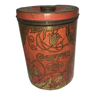 1950's Geo F. Hellick Coffee Tin Canister