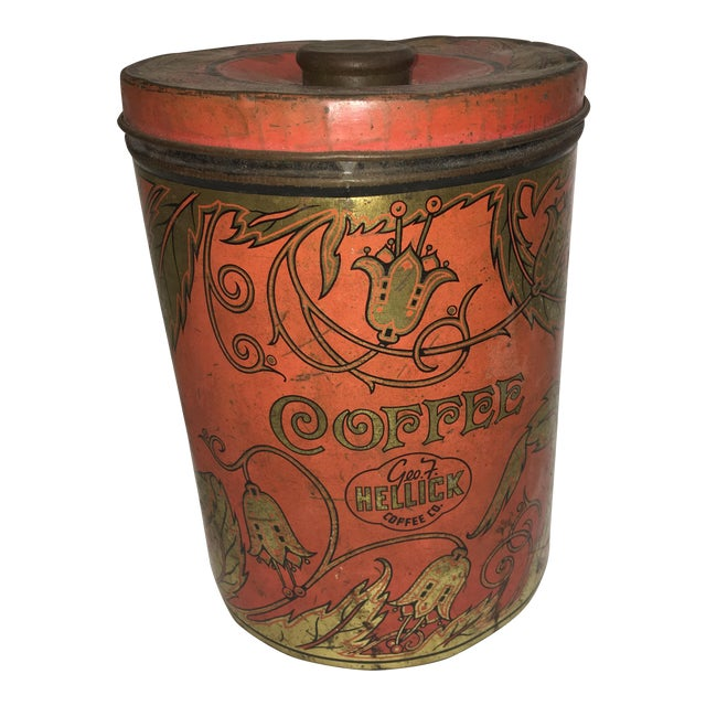 1950's Geo F. Hellick Coffee Tin Canister - Image 1 of 8