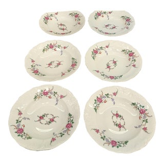 Royal Kent Gold Trim China Soup Bowls - Set of 6