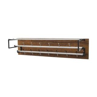 Mid Century Mod Rosewood Wall Mount Coat Rack