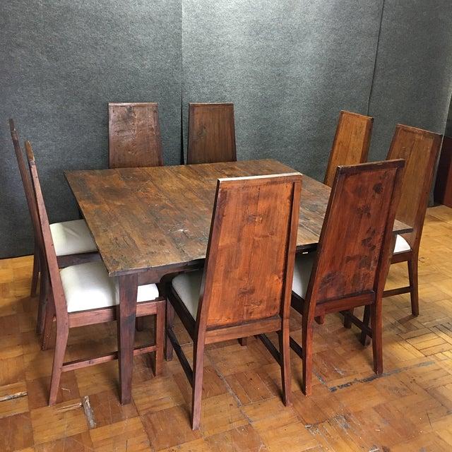 Image of Rustic Square Mahogany Dining Set