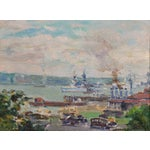 Image of Woelfle View of the New York City Harbor Painting