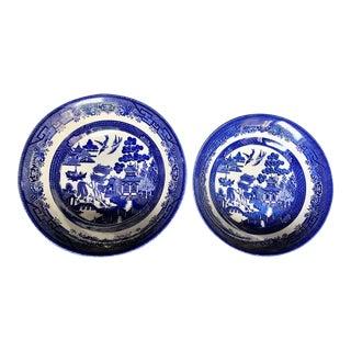 Staffordshire Pagoda Bowls - A Pair