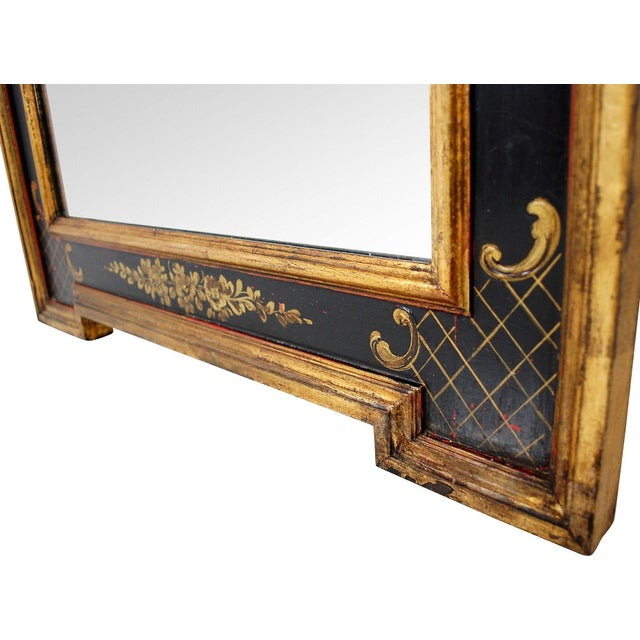 Vintage Black & Gold Chinoiserie Mirror - Image 6 of 6