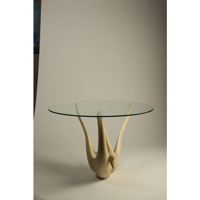 1960s Resin Swan Table with Glass Top - Image 3 of 3