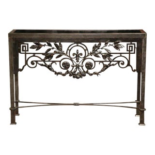French Polished Iron Console Table