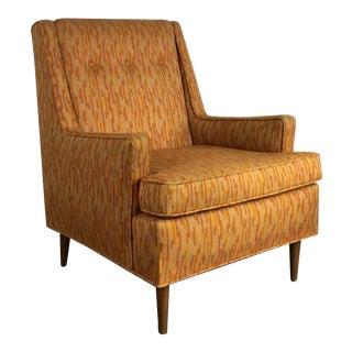 Vintage Edward Wormley Dunbar Lounge Chair Mid Century Modern Jack Lenor Larsen