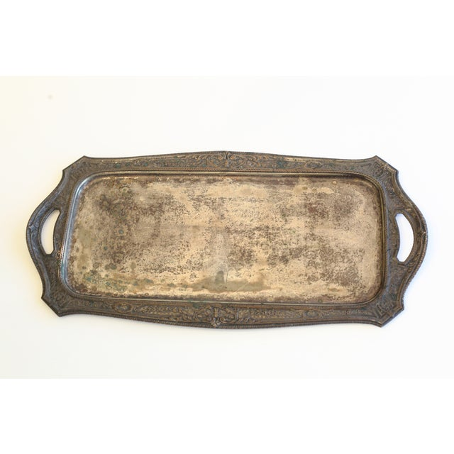 Vintage Silver Plated Tray - Image 2 of 8