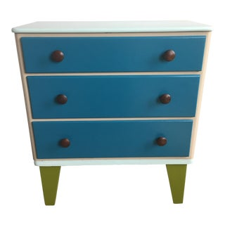 Refinished Atomic Mid-Century Modern Small Lowboy Dresser