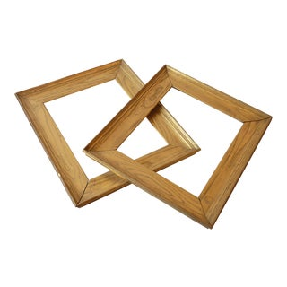 Golden Chestnut Frames- A Pair