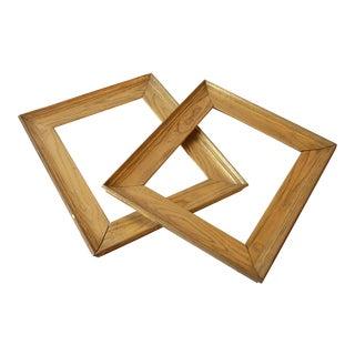 Golden Chestnut Frames- A Pair