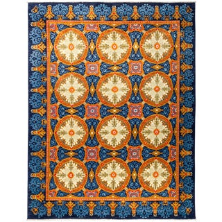 """Suzani Hand Knotted Area Rug - 7'10"""" X 10'4"""""""