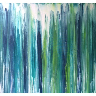 'Waterfall' Abstract Painting by Linnea Heide