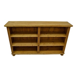Pine Double Bookcase