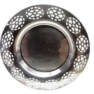 Oneida Silver Cutout Wine Plate